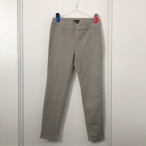 Sarah Pancini Elastic Waistband Light Khaki Jeans